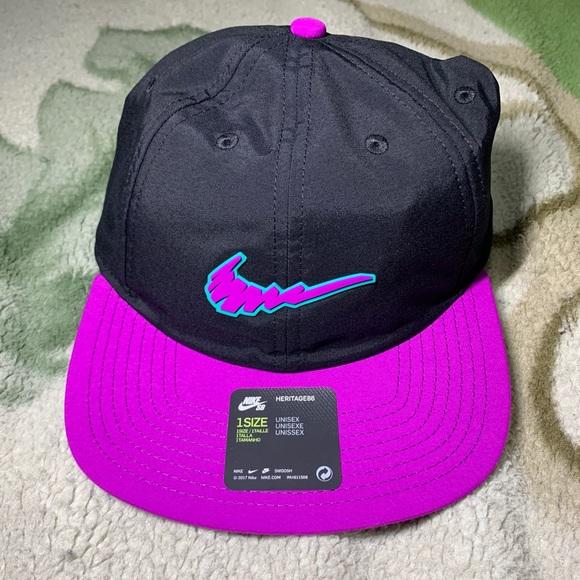 NEW Nike SB Scribble Black Purple Teal Hat Cap